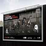 Choose Life Drop the Knife campaign billboard