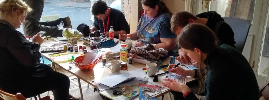 young people taking part in a workshop